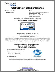 Praxis EMR - Drummond Modular EHR (Ambulatory) Certification