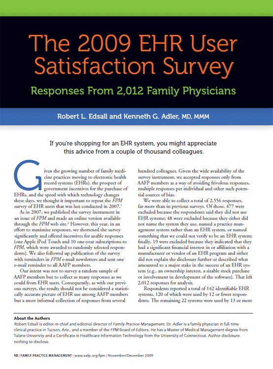 AAFP American College of Family Physicians - Praxis EMR