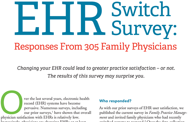 Survey finds physicians being forced to switch EHRs. Results show Praxis EMR is Physicians' #1 Choice