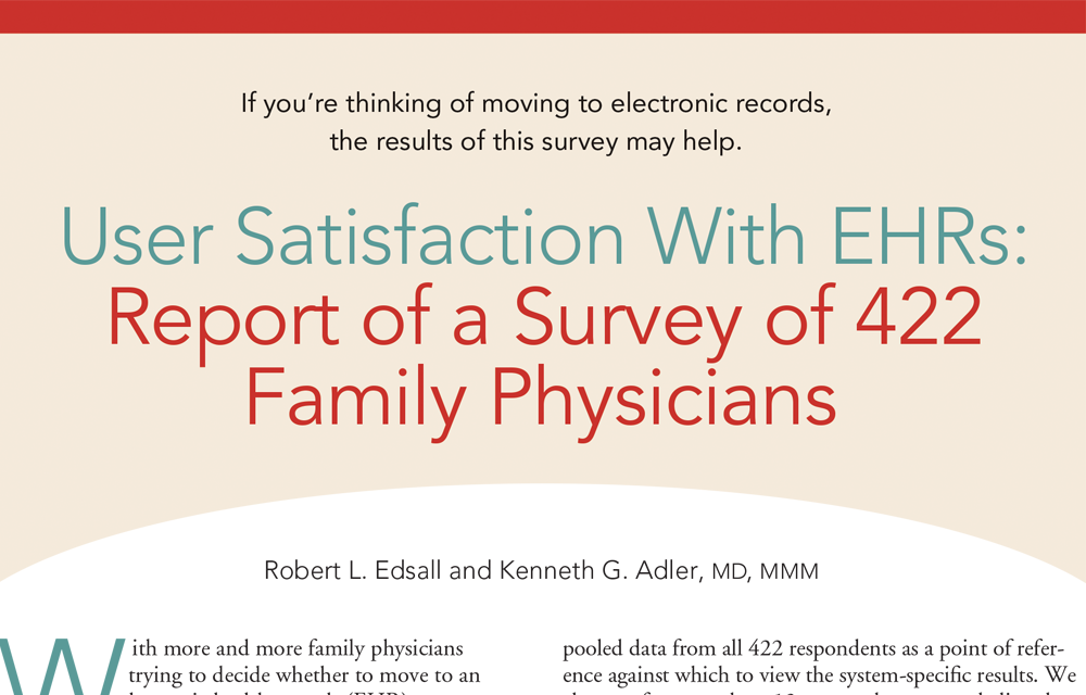 Praxis EMR Ranked Number One in the AAFP EHR User Satisfaction Survey