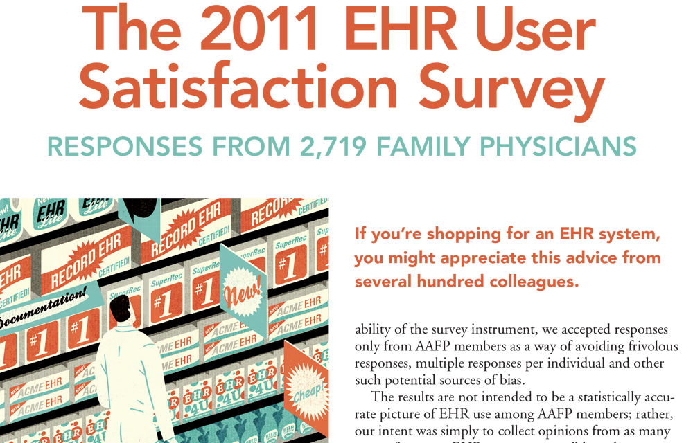 AAFP EHR User Satisfaction Survey Ranks Praxis EMR #1 Again