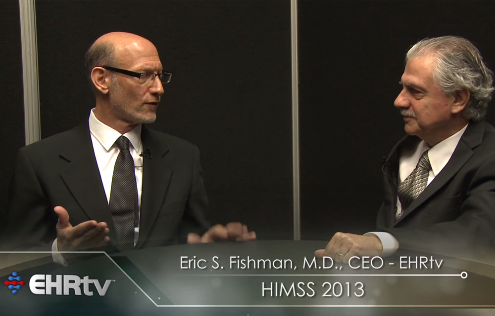EHRtv's Dr. Eric Fishman interviews Praxis EMR's CEO and Founder Dr. Richard Low at HIMSS13.