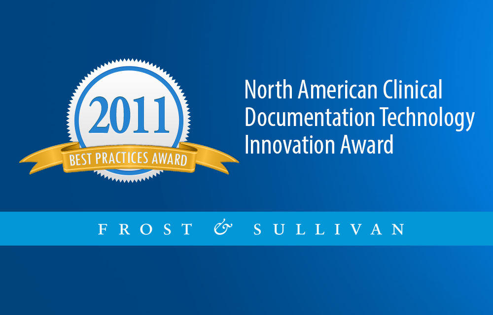 North American Technology Innovation Award in Clinical Documentation