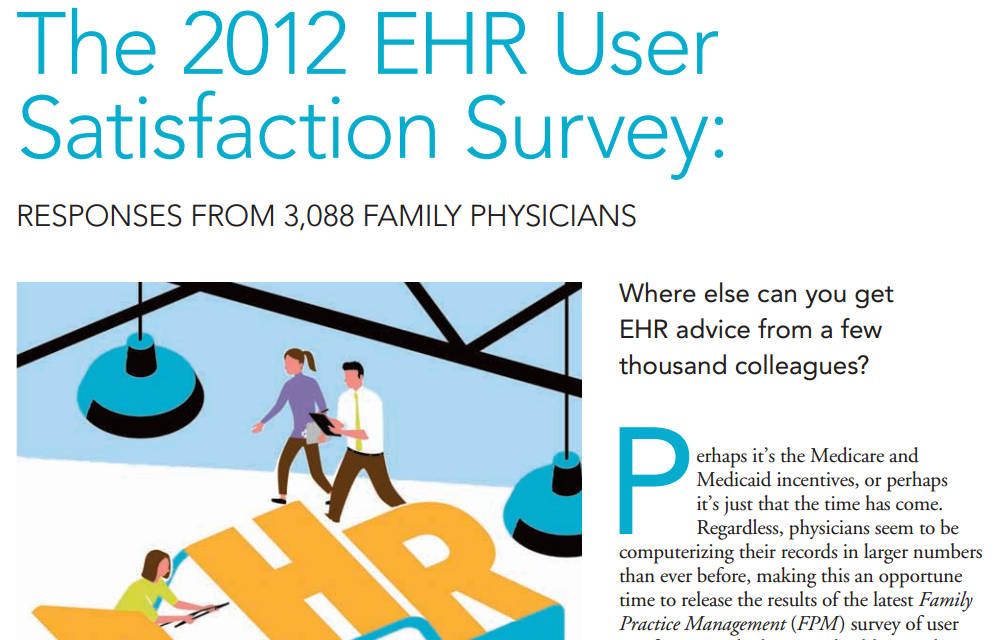 The American Academy of Family Physicians ranks Praxis EMR #1 EHR in Major Survey