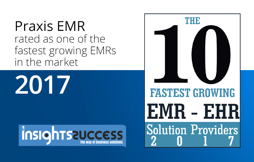 The 10 Fastest Growing EMR-EHR Solution Providers 2017.