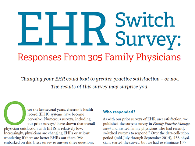 Praxis is Rated #1 by Physicians when switching EHRs